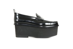 Givenchy Patent Leather Platform Loafers Black Wedges
