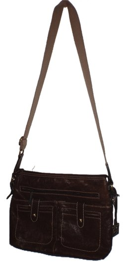 Preload https://img-static.tradesy.com/item/2135873/giani-bernini-chocolate-brown-leather-cotton-cross-body-bag-0-0-540-540.jpg