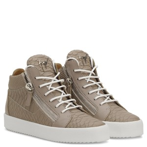 Giuseppe Zanotti Croc High Top Sneakers Zip Gray Athletic