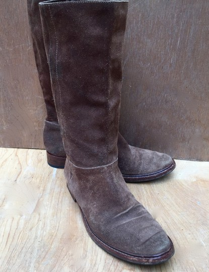 Gunex Leather Tall Suede brown Boots Image 5