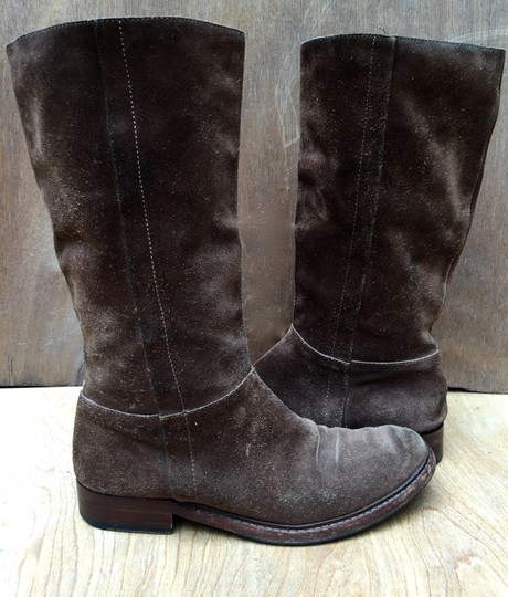 Gunex Leather Tall Suede brown Boots Image 8