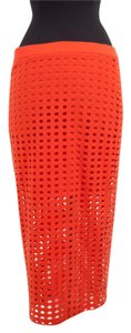Alexander Wang Cut-out Maxi Skirt Orange