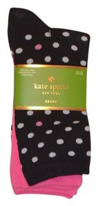 Kate Spade Kate Spade Set of 3 Socks Polka Dot Cotton Brand New with Tags