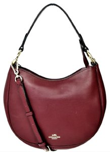 Coach Leather Gold Hobo Bag