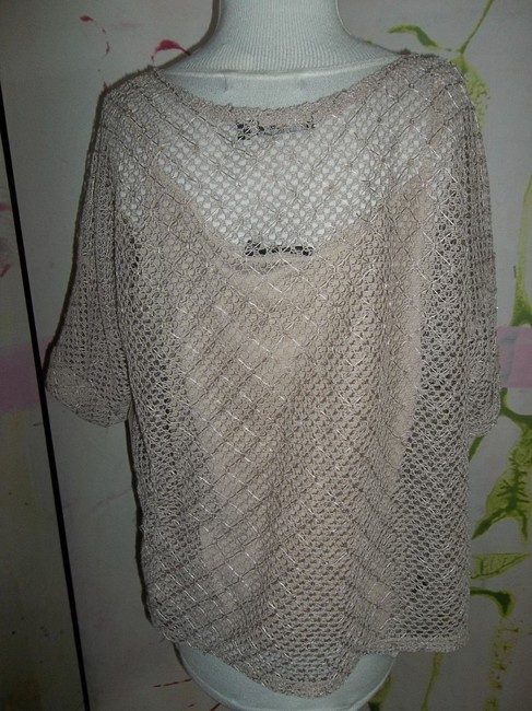 Notations No Tags Polyester 2 Pieces Lacey Top tan Image 1