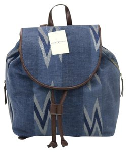 Lucky Brand Denim Leather Backpack