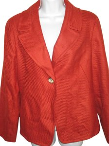 Talbots Jacket Fall Summer Orange Blazer