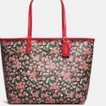 Coach New With Tags Tote in Pink Multi Bright Red Image 4