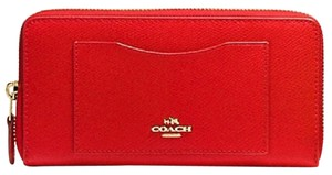 Coach Accordion Wallet in Crossgrain