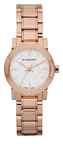 Burberry Burberry Women's Swiss Rose Gold-Tone White Dial Stainless Steel Bracelet 27mm