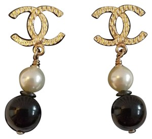 Chanel CHANEL CC PEARL DROP EARRINGS