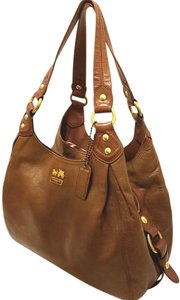 Coach Refurbished Brown Extra-large Euc Multi-compartment Hobo Bag