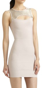 BCBGMAXAZRIA Sleeveless Sequin Cut-out Sheath Bodycon Dress