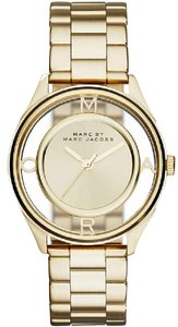 Marc by Marc Jacobs Tether See Through Dial Gold Watch MBM3413