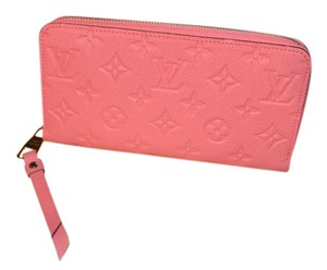 Louis Vuitton BRAND NEW Empriente Embossed Leather Zippy Long Wallet Clutch in Pink