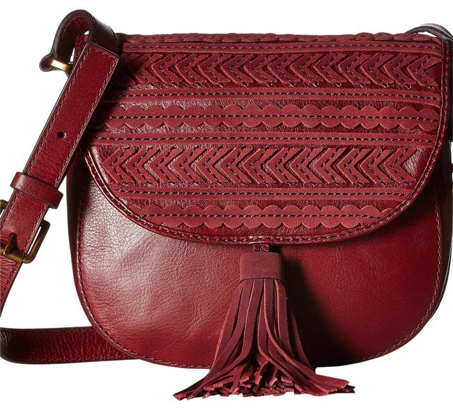 Item - Crossbody Emi Tassel Saddle Wine Leather Messenger Bag