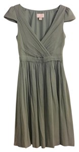 J.Crew Bridesmaid Silk Chiffon Full Back Cap Sleeves Dress