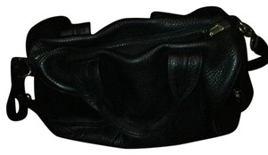 Alexander Wang Satchel in black with antique gold hardware