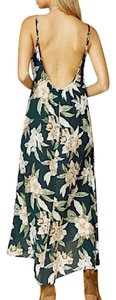 Green Maxi Dress by Show Me Your Mumu Draped Maxi Strappy Back Maxi Floral Printed Smym White