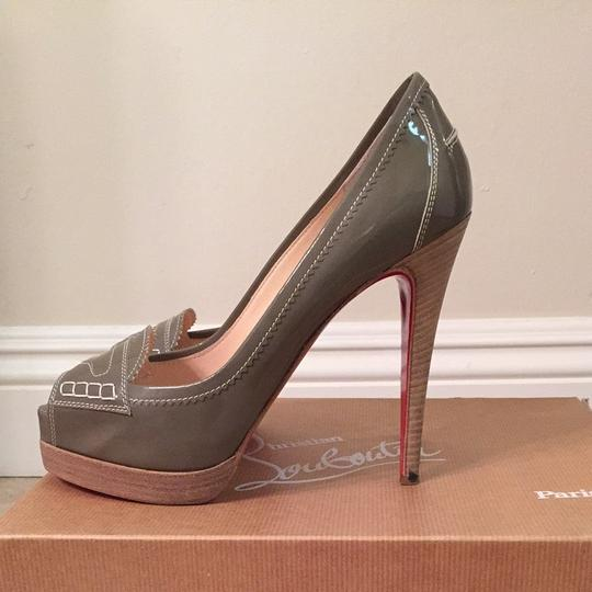 Christian Louboutin Grey, Patent Leather Platforms