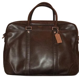 Coach Messenger Briefcase Leather Brown Messenger Bag