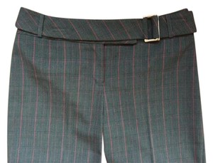 Lucy Perids Belted Trousers Straight Pants Dark grey plaid