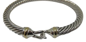 David Yurman 5mm Sterling silver and gold buckle bracelet medium size