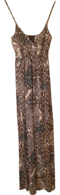 Grey Teal Tribal Maxi Dress by Sam & Max Flash Sale
