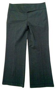 Laundry by Shelli Segal Dress Size 10 Gray Leg Slacks P1305 Straight Pants Charcoal pin striped