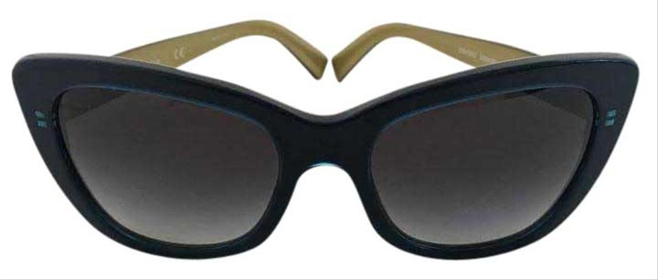 fea45bd4a0fa Dolce Gabbana Cat Eye Butterfly Oversized Sunnies in Dark Royal Blue Gold  Image 0 ...