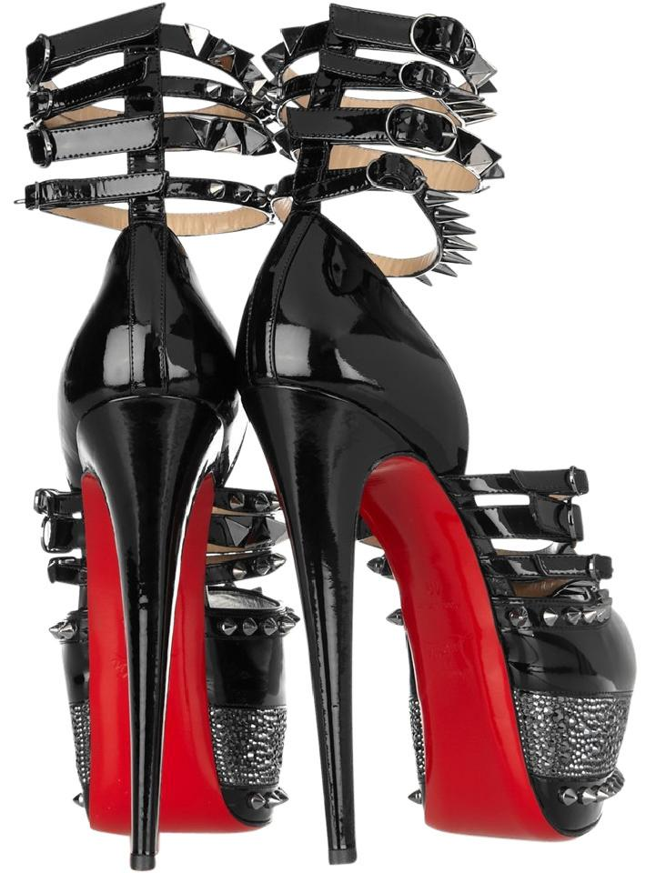 chaussures de séparation 4f17e 3aa01 Christian Louboutin Black Isolde 20th Anniversary Patent Strass Pumps Heel  Lady Platforms Size EU 38.5 (Approx. US 8.5) Regular (M, B) 49% off retail