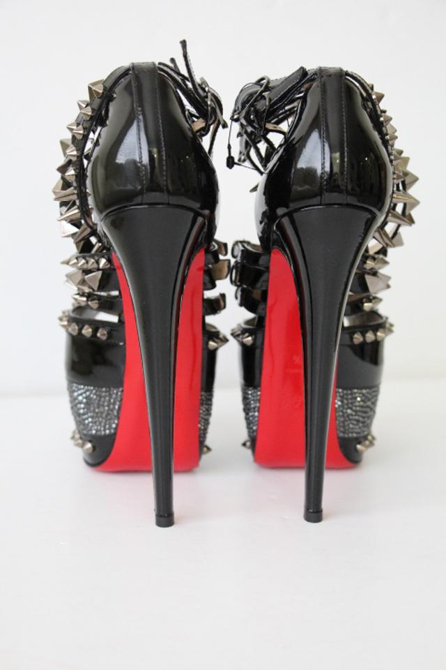 a5eecac5cfd Christian Louboutin Black Isolde 20th Anniversary Patent Strass Pumps Heel  Lady Platforms Size EU 38.5 (Approx. US 8.5) Regular (M, B) 43% off retail