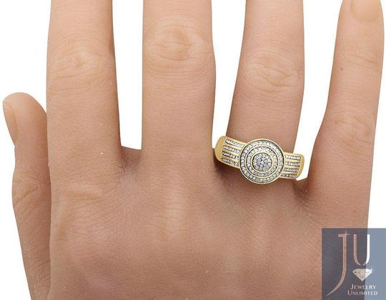 Jewelry Unlimited Men's Disc Round Pave Genuine Diamond Wedding Pinky Ring .33ct Image 1