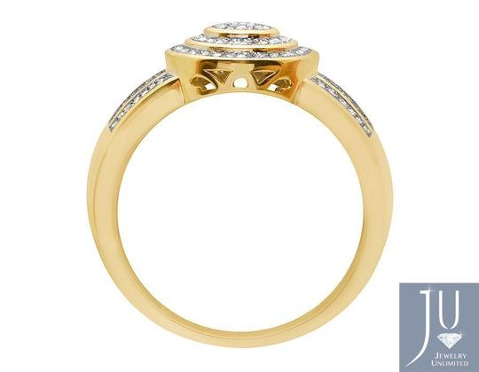 Jewelry Unlimited Men's Disc Round Pave Genuine Diamond Wedding Pinky Ring .33ct Image 2