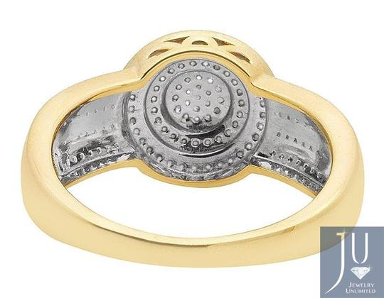 Jewelry Unlimited Men's Disc Round Pave Genuine Diamond Wedding Pinky Ring .33ct Image 3