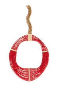 House of Harlow 1960 House of Harlow 1960 Dinka Gold-tone Multi-Strand Red beaded Necklace
