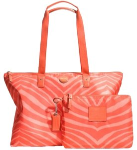 Coach Tote in Hot Orange
