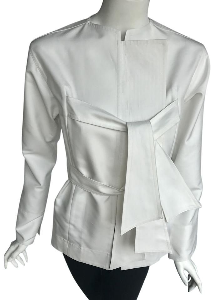 400645442f41c Céline White Tie Phoebe Philo Collection. Long Sleeves with Closure ...