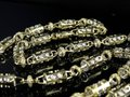 Jewelry Unlimited Mens Bullett Link 6.5 MM Real Diamond Chain Necklace 7 ct 30