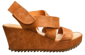 Pedro Garcia Leather Brown Wedges