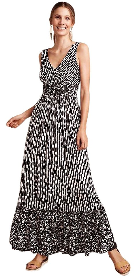 bf15114637d0 Anthropologie Black & White Plenty Tracy Reese Seacoast Marcia Casual Maxi  Dress