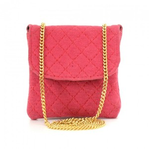 Chanel Chanel Rose Pink Quilted Cotton Mini Coin Case on Chain CF893