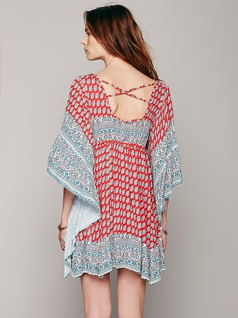 Free People short dress Red Multi on Tradesy Image 2