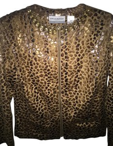 Alfred Dunner Brown and gold Blazer