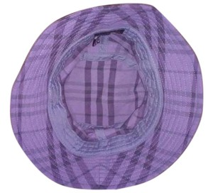 Burberry Burberry Golf - Small Bucket Hat Purple Blue Gray Plaid Cotton Blend