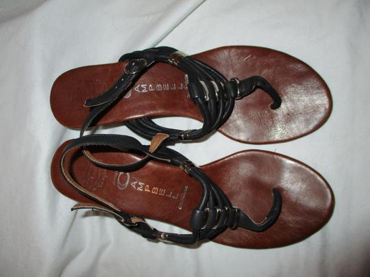 Jeffrey Campbell Leather Wedge Thong black Sandals Image 4
