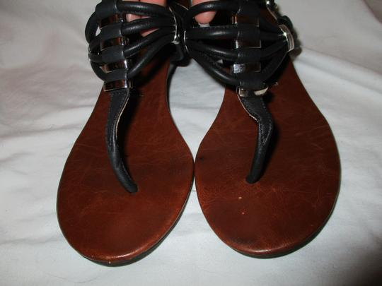 Jeffrey Campbell Leather Wedge Thong black Sandals Image 5