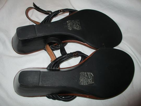 Jeffrey Campbell Leather Wedge Thong black Sandals Image 7