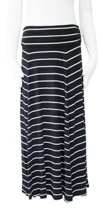 Gap Striped Long Maxi Skirt Black & white