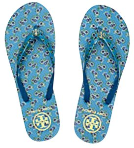 Tory Burch Floral Avalon blue Sandals